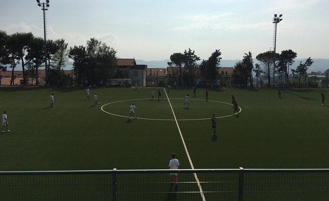 Un'immagine della sfida tra Camerano e Portuali Calcio Ancona
