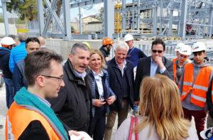 Piero Farabollini, commissario straordinario per la ricostruzione, visita un cantiere a Foligno