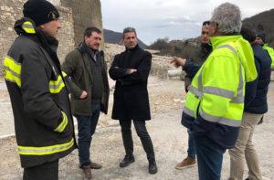 Piero Farabollini, commissario straordinario per la ricostruzione, ad Arquata del Tronto