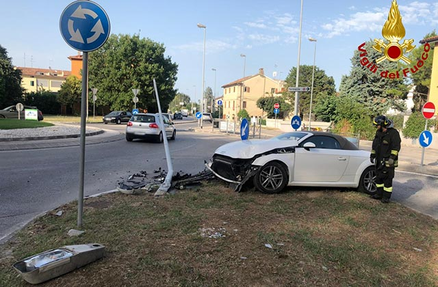 L'incidente stradale avvenuto a Jesi