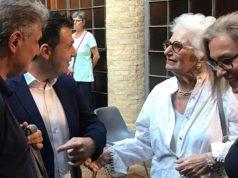 La senatrice Liliana Segre alla mostra alla pinacoteca di Fabriano
