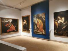Una delle sale della Pinacoteca a Fabriano allestite per la mostra su Gentileschi