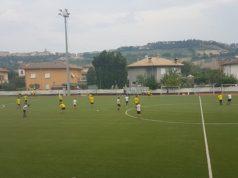 Un momento della partita Villa Musone - Pietralacroce