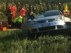 I soccorsi dopo l'incidente a Pongelli di Ostra Vetere