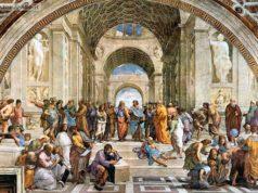 """La """"Scuola di Atene di Raffaello nella Stanza della Segnatura in Vaticano"""