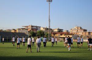 La preparazione atletica per l'Fc Vigor Senigallia allo stadio Bianchelli