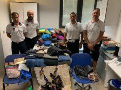 Il materiale sequestrato dalla Polizia Locale e Guardia Costiera a Pesaro