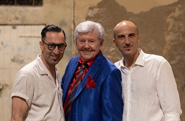 Da sinistra: Angelo Di Liberto, Jimmy Clanton e Alessandro Piccinini. Foto di Guido Calamosca
