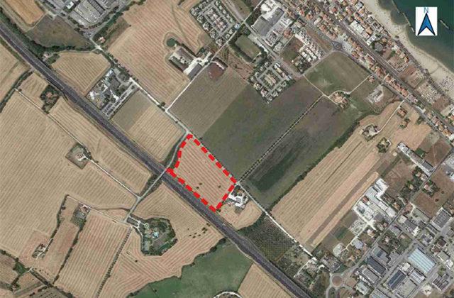 La mappa di via Fiorini, località Cesano di Senigallia, dove sorgerà l'impianto per il trattamento dei rifiuti