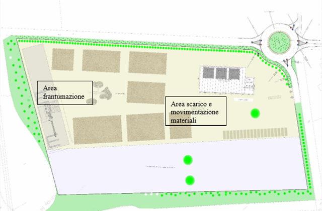 La mappa dell'impianto per il trattamento dei rifiuti che sorgerà al Cesano di Senigallia