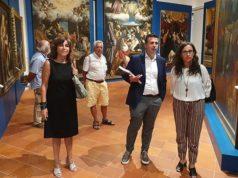 La sala principale della mostra su Gentileschi a Fabriano