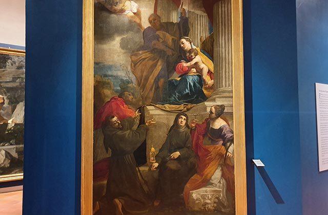 La Pala di Carlo Bonomi alla mostra alla pinacoteca di Fabriano