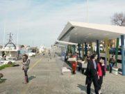Le pensiline al porto di Pesaro