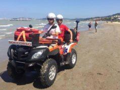 Il quad usato dalla Croce Gialla per i soccorsi in spiaggia a Falconara