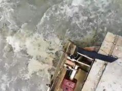 Sversamenti in mare attraverso l'apertura degli scolmatori