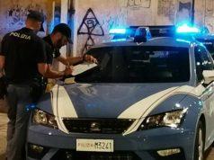 Personale delle volanti della Polizia impegnato nei controlli serali e notturni