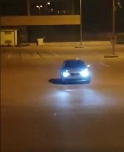 L'auto filmata