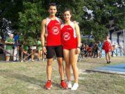 I giovani Filippo Danieli e Anna Maria Cesaroni dell'Atletica Fabriano