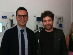 Il curatore Riccardo Tonti Bandini e l'artista Enrico Antonello
