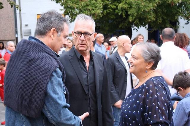 Stefano Marconi a colloquio con l'Assessore allo Sport Guidotti e il sindaco Mancinelli
