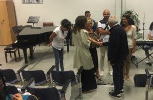 Mogol impegnato alle audizioni ad Ancona di perfezionamento musicale