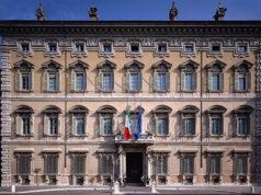 La facciata di Palazzo Madama, sede del Senato della Repubblica