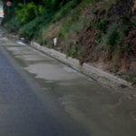 Il fango sulla provinciale alle Bettolelle di Senigallia