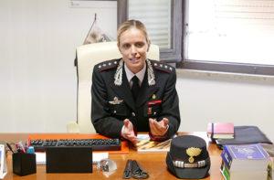 Il nuovo comandante della Compagnia Carabinieri di Senigallia, Francesca Romana Ruberto