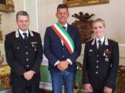 Il ten. col. Cleto Bucci, il sindaco di Senigallia Maurizio Mangialardi e il nuovo capitano dei Carabinieri Francesca Romana Ruberto
