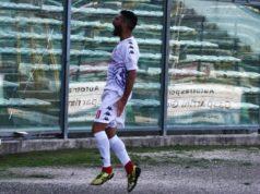 Alex Ambrosini esulta dopo il quarto gol realizzato