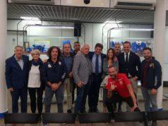 La delegazione marchigiana presente a Coverciano con il presidente Paolo Cellini