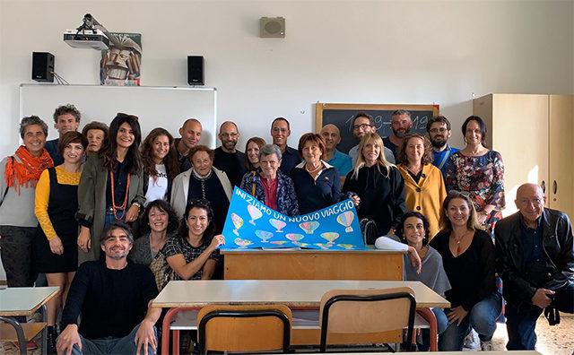 Alunni e professori della IIID Fagnani nel 2019