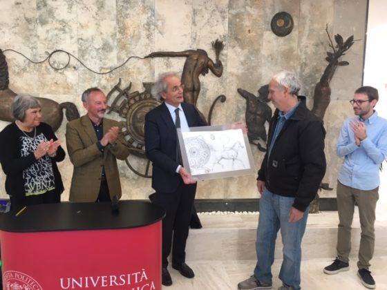 Il bozzetto dell'opera donato dall'artista Floriano Ippoliti