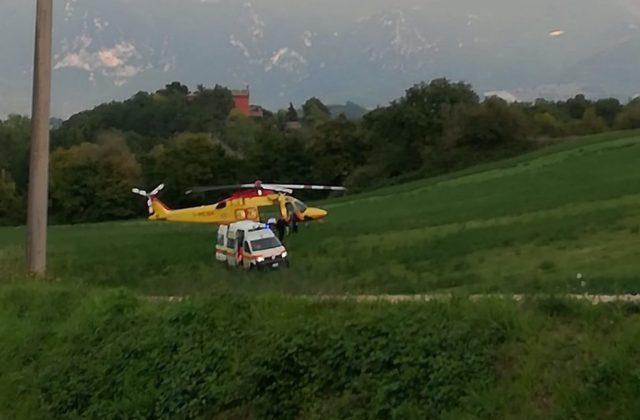 I soccorsi del 118 alla donna incinta a Fabriano