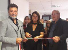 Da sinistra: il sindaco Paolo Niccoletti, la presidente della Fondazione Carilo Fulvia Marchiani e il dirigente scolastico dell'alberghiero Gabriele Torquati