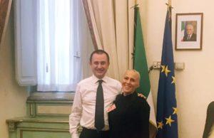 L'onorevole Ettore Rosato e Monica Santoni