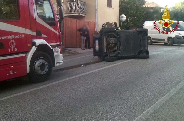 L'incidente avvenuto a San Biagio di Osimo