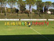 Atletico Alma e Anconitana schierate a centrocampo