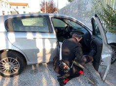 L'auto usata dai ladri per i furti