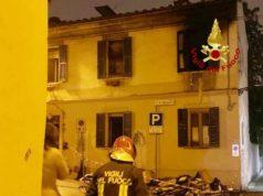 Incendio a Jesi in piazza Molinelli