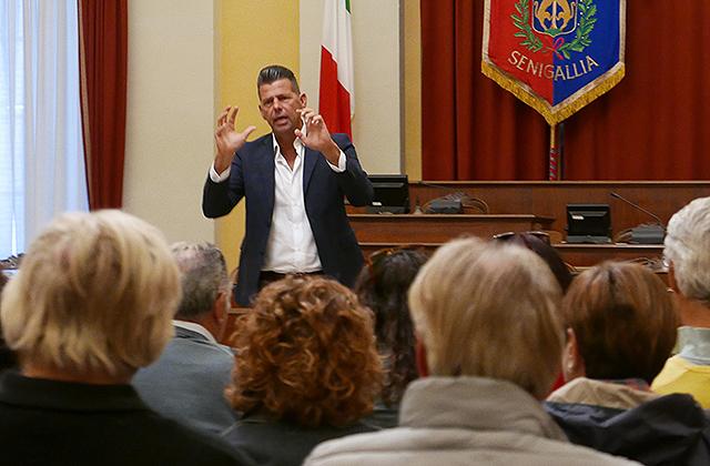 Il sindaco di Senigallia Maurizio Mangialardi