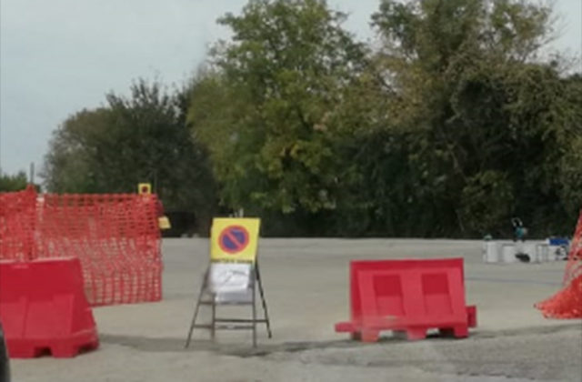 I lavori al parcheggio di fianco l'ospedale di Senigallia
