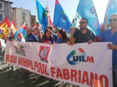 La recente manifestazione a Roma dei dipendenti Whirlpool (immagine di repertorio)