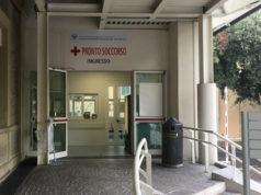 L'ingresso del pronto soccorso di Pesaro