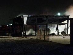 Lo stabilimento a Marina di Montemarciano distrutto da un incendio