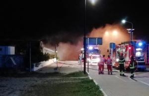 Le operazione di spegnimento delle fiamme