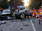"""Lo scontro avvenuto sulla sp 12 """"Corinaldese"""": i soccorsi"""
