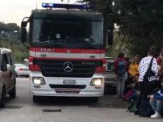 Gli studenti evacuati