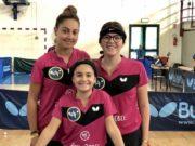Tennistavolo Clementina Roy Rebel: Margherita Pierella (15 anni), Rachele De Luca (14) e Beatrice Berzano (12)