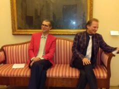 Da sinistra il regista Matteo Mazzoni e il direttore d'orchestra David Crescenzi